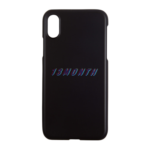 [13MONTH] GRAPHIC LOGO IPHONE CASE BLACK