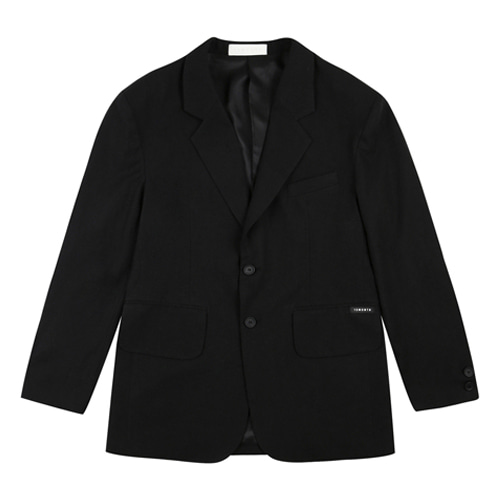 [13MONTH] OVER SHOULDER LINEN SET JACKET BLACK
