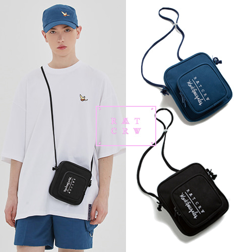 [ROMANTICCROWN][R.C X M.G] POCKET CROSS BAG 2COLOR
