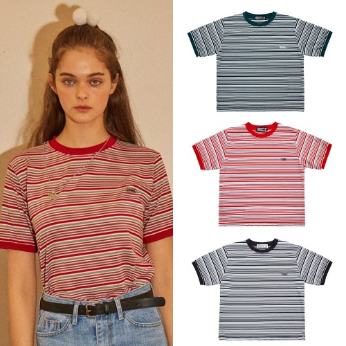 [CITY BREEZE] STRIPE RINGER T-SHIRTS 3COLOR