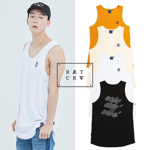 [ROMANTICCROWN] E,D,V OUT LINE SLEEVELESS 4COLOR