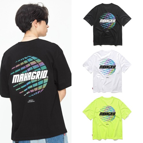 [MAHAGRID] RAINBOW REFLECTOR PLANET TEE 3COLOR