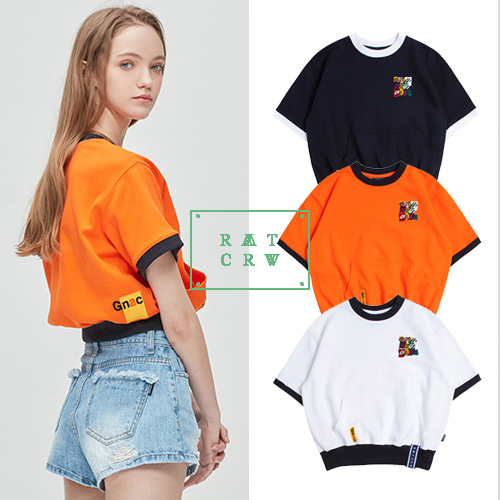 [ROMANTICCROWN WOMAN] GNAC POCKET T SHIRT 3COLOR