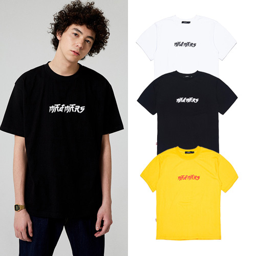 [MADMARS] BRUSH LOGO T-SHIRT 3COLOR