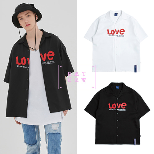 [ROMANTICCROWN][R.C X M.G]WITH LOVE SOUVENIR SHIRTS 2COLOR