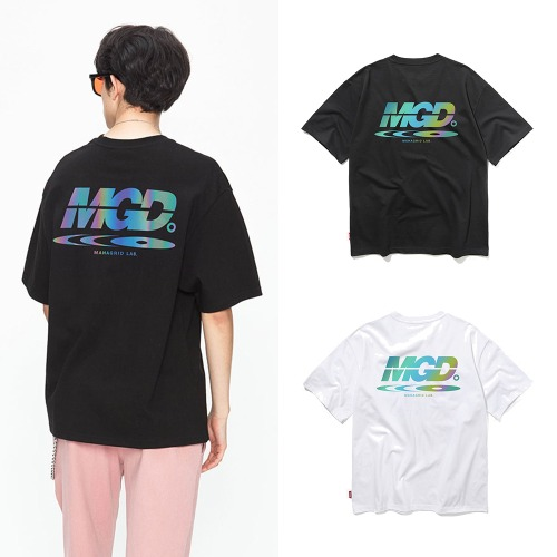 [MAHAGRID] RAINBOW REFLECTOR DISC TEE 2COLOR