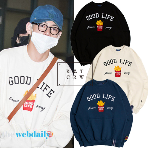 [ROMANTIC CROWN]10TH GOOD LIFE SWEATSHIRT 3color