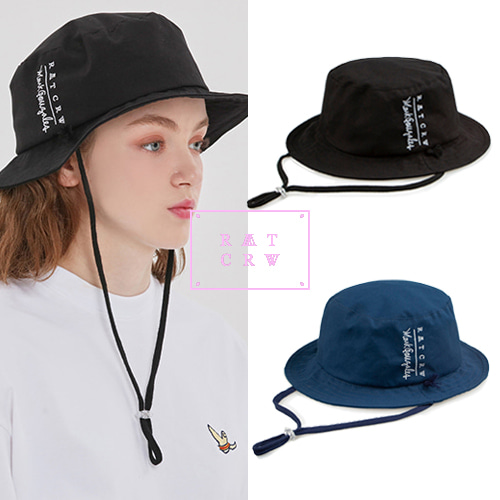 [ROMANTICCROWN][R.C X M.G] TRAVEL BUCKET HAT 2COLOR
