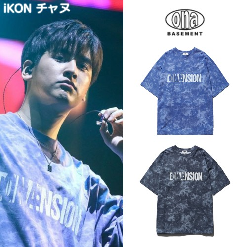 [ONA] TIE DYE DIMENSION SHORT SLEEVE T-SHIRTS 2COLOR _iKON