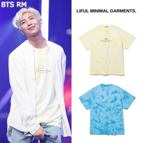 [LIFUL] SLOGAN LOGO TIE DYE TEE 2COLOR_BTS
