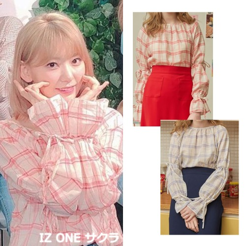 [ILLUSTRIS ILLUSION] RAGLAN BLOUSE 2COLOR_IZ ONE