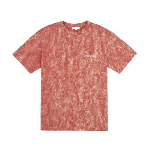 [13MONTH] BACK LOGO HALF SLEEVE T-SHIRT RED