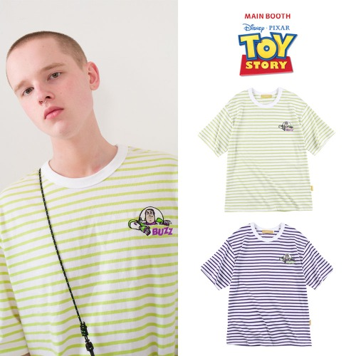 [MAINBOOTH] BUZZ STRIPE T-SHIRT 2COLOR