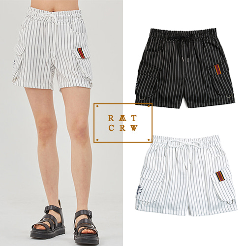 [ROMANTIC CROWN] E.D.V STRIPE SHORTS 2COLOR