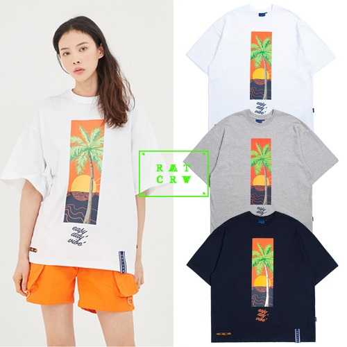 [ROMANTICCROWN] E.D.V SUNSET T SHIRT 3COLOR