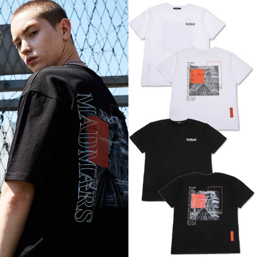 [MADMARS] TRAIN WRECK T-SHIRTS 2COLOR