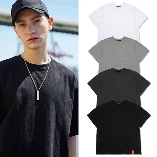 [MADMARS] BASIC POINT T-SHIRTS 4COLOR