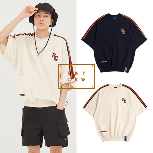 [ROMANTICCROWN] SHOULDER LINE RC JERSEY 2COLOR