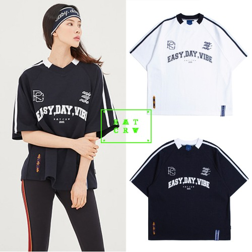 [ROMANTICCROWN] E.D.V FOOT BALL JERSEY 2COLOR
