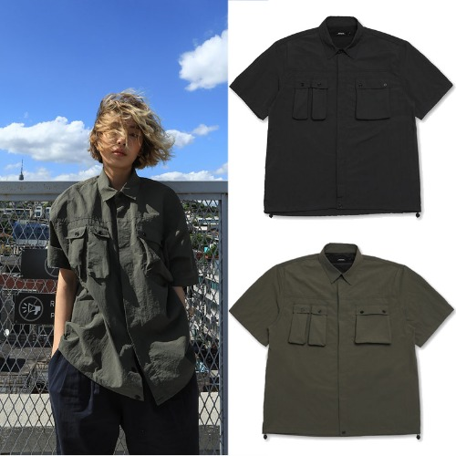 [MADMARS] SOLID POCKET SHIRTS 2COLOR
