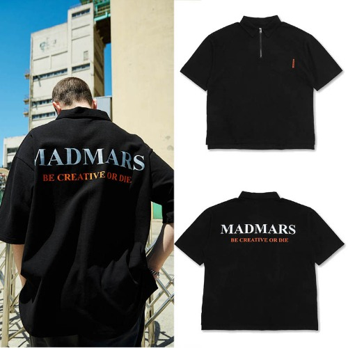 [MADMARS] MADMARS COLLARED T-SHIRTS BLACK