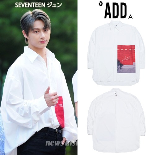 [ADD] GRAPHIC OVERSIZED SHIRTS WHITE_SEVENTEEN ジュン