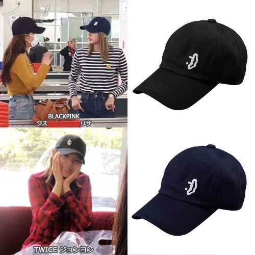 [DXOH] SMILE SMALL LOGO CAP 2COLOR_BLACKPINK_TWICE_PRODUCEX