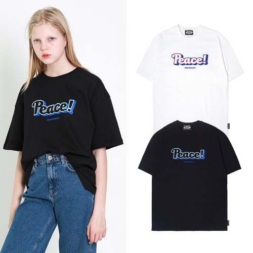[ODDSTUDIO] PEACE LOGO T-SHIRTS 2COLOR