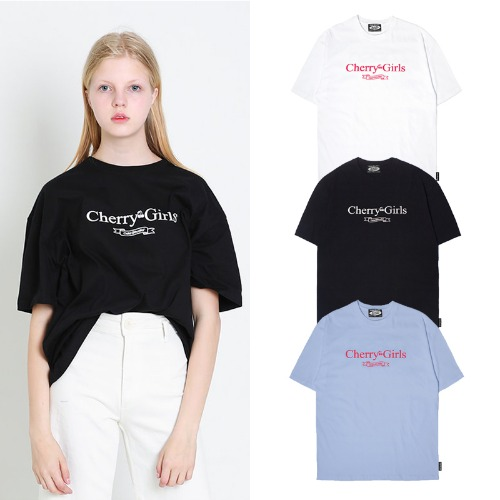 [ODDSTUDIO] CHERRYGIRLS T-SHIRTS 3COLOR