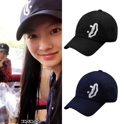 [DXOH] SMILE BIG LOGO CAP 2COLOR_コン スンヨン