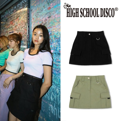 [HIGHSCHOOLDISCO] CARGO SKIRT 2COLOR