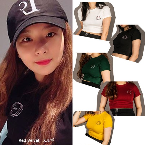 [DXOH] GIRLFACE CROP TEE 5COLOR_REDVELVET