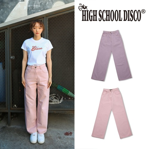 [HIGHSCHOOLDISCO] COLOR WIDE PANTS 2COLOR
