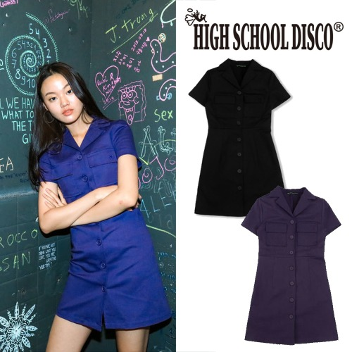 [HIGHSCHOOLDISCO] COLLARED ONEPIECE 2COLOR