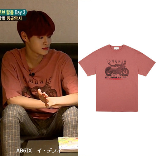 [13MONTH] BIKE HALF SLEEVE T-SHIRT INDIPINK_AB6IX
