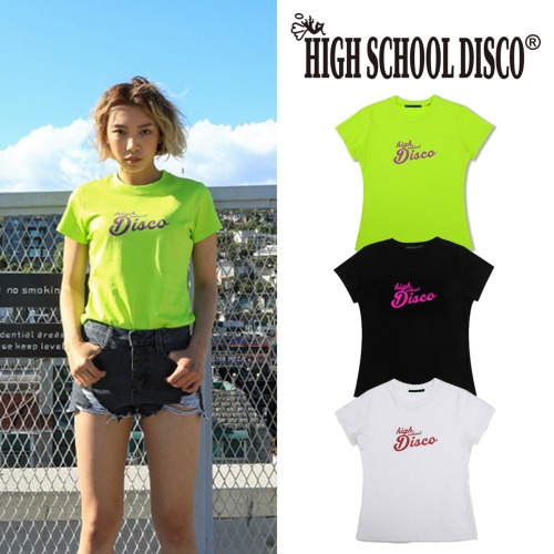 [HIGHSCHOOLDISCO] BASIC LOGO T SHIRTS 3COLOR