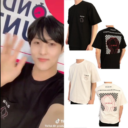 [DXOH] FACE CHECK T-SHIRT 2COLOR_PRODUCEX