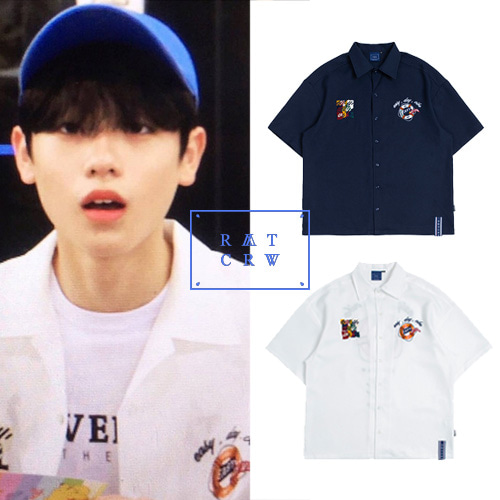 [ROMANTICCROWN] LIFE BELT SOUVENIR SHIRTS 2COLOR_PRODUCE X 101