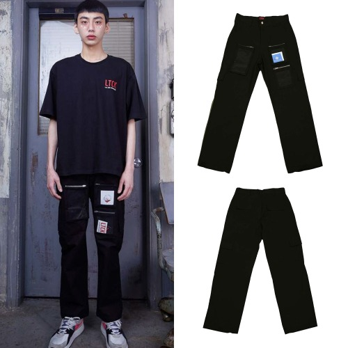 [LTCK] PVC POCKET CARGO PANTS