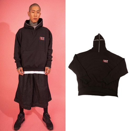 [LTCK] ZIPPER EYE HOODIE BLACK