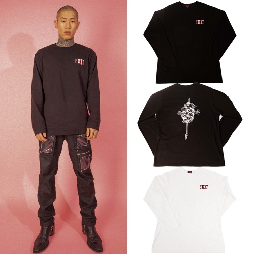 [LTCK] EXIT LOGO LONG SLEEVE 2COLOR