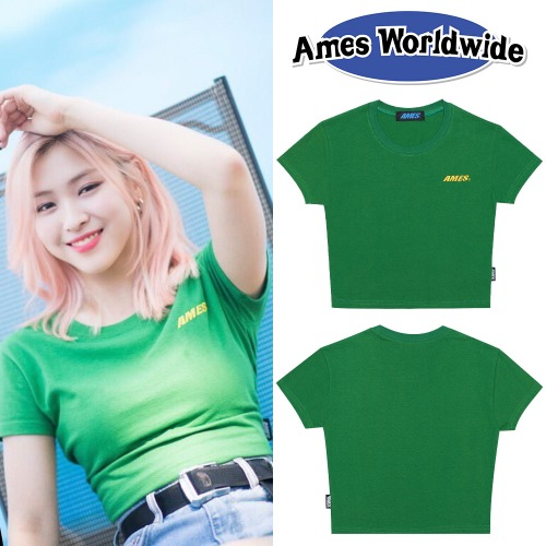 [AMES-WORLDWIDE] AMES BASIC CROP T-SHIRTS GR_ITZY