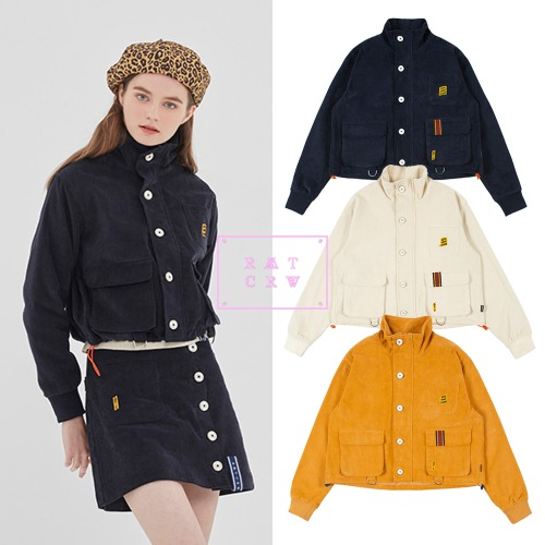 [ROMANTICCROWN WOMAN] GNAC MULTI POCKET JACKET 3COLOR