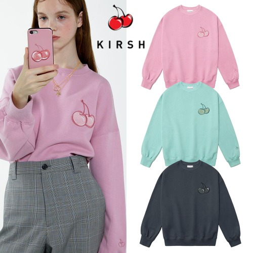 [KIRSH] CHERRY TONE ON TONE SWEATSHIRT IA 3COLOR
