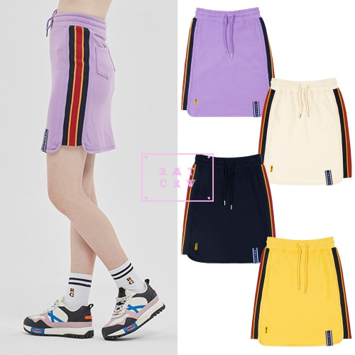 [ROMANTICCROWN WOMAN] SIDE LINE SPORTS SKIRT 4COLOR