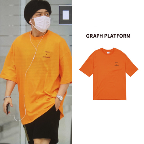 [GRAPHPLATFORM] RAINBOW SCOTCH TEE ORNAGE_IKON