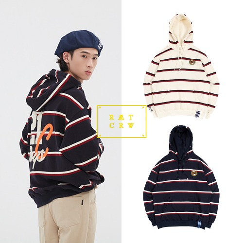 [ROMANTICCROWN] 21C BOYS STRIPE HOOD 2COLOR
