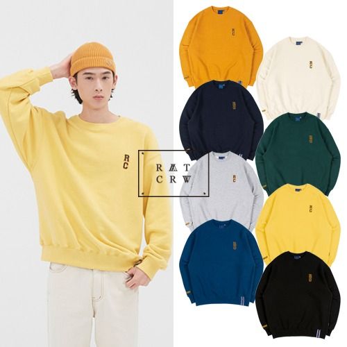 [ROMANTICCROWN] RC LOGO SWEATSHIRT 8COLOR