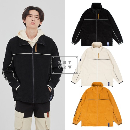 [ROMANTICCROWN] CORDUROY PIPING JACKET 3COLOR