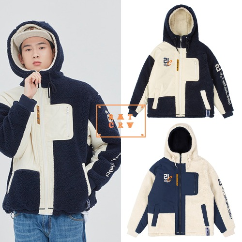 [ROMANTICCROWN] HEAVY LAYOUT FLEECE JUMPER 2COLOR